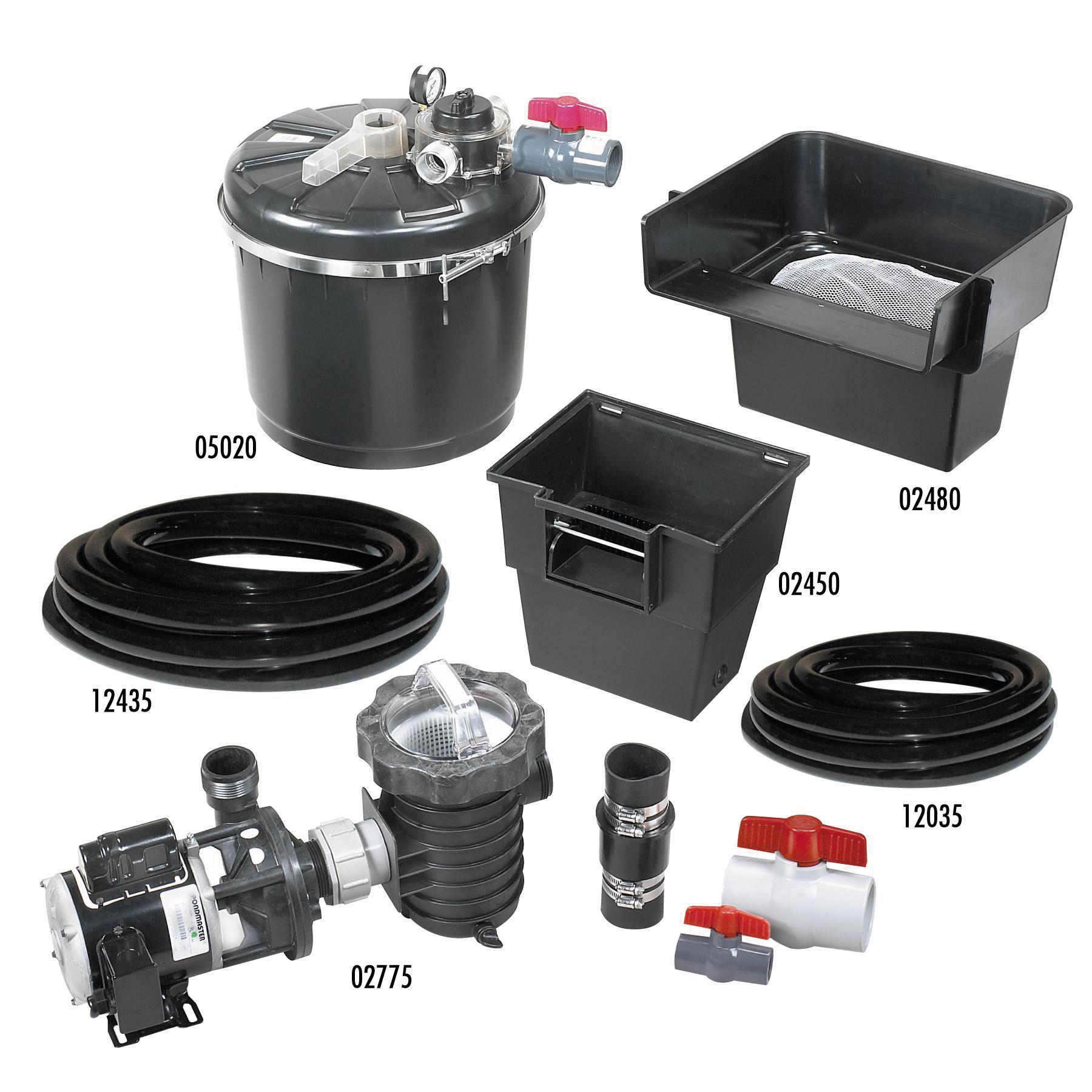 Pondmaster proline 2500 filter kit for In line pond filter